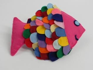 """Felt Fish. 8""""x12"""""""